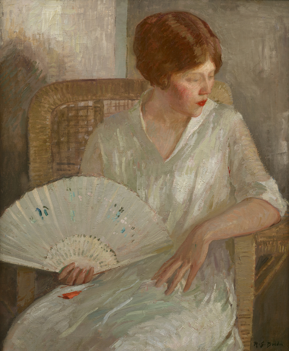 Girl with White Fan, circa 1915