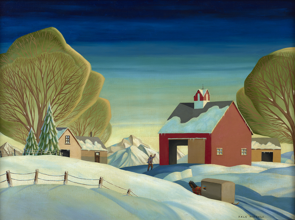 The Visit (Barn in Winter), late 1940s – early 1950s