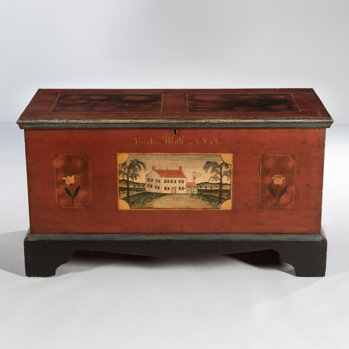 "Paint-decorated Dower Chest ""Noah Mali,"" Sugar Creek Township, Tuscarawas County, Ohio, 1846"