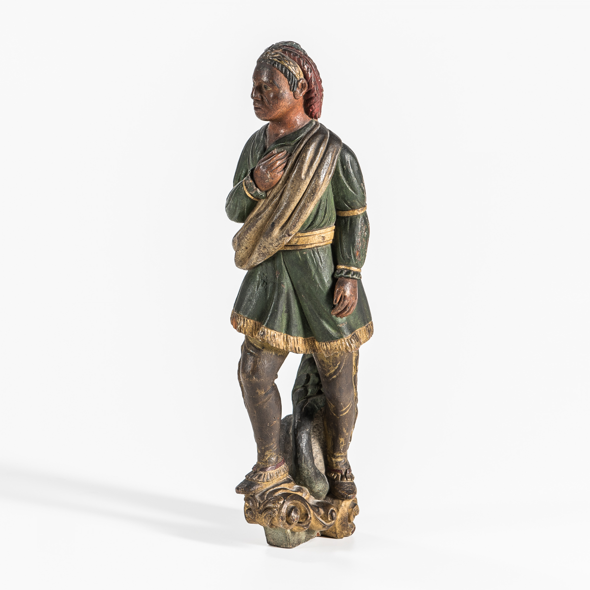 Carved and Painted Model for an Indian Chief Figurehead, America, 19th century