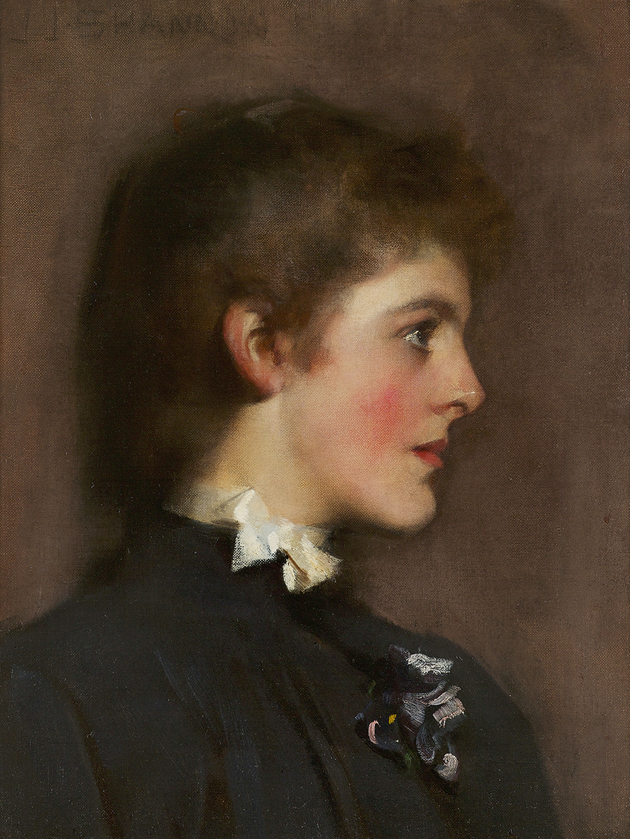 Portrait of a Young Woman, circa 1889